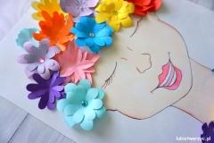 Portret Pani Wiosny - praca plastyczna 2