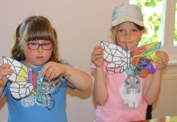 Motyle – tworzymy witraże.